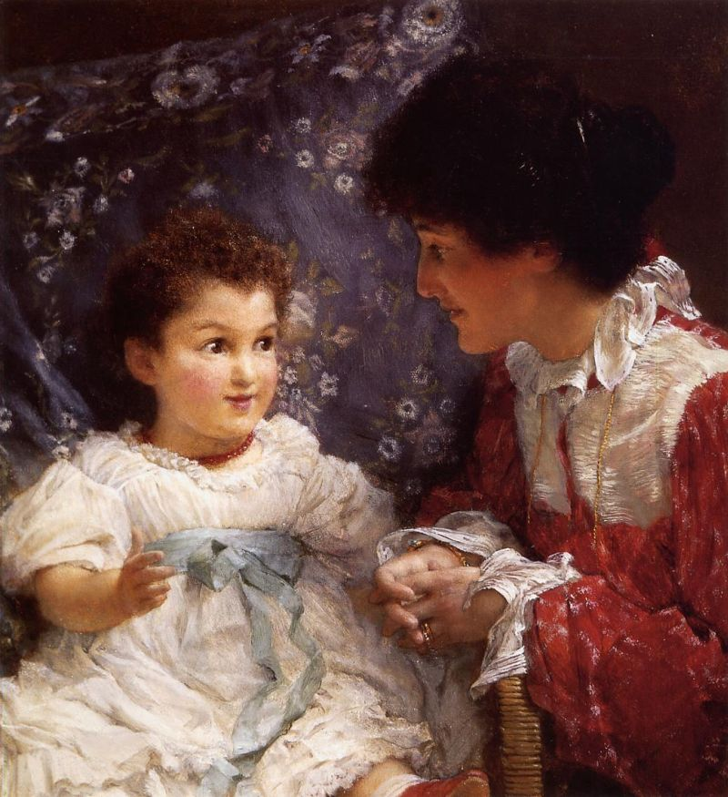 Lawrence Alma-Tadema - Mrs. George Lewis and Her Daughter Elizabeth