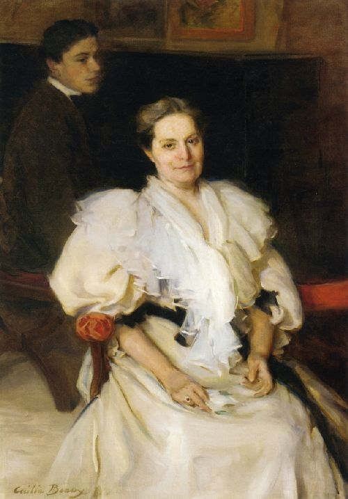 Cecilia Beaux - Mrs Beauveau Borie and Her Son Adolphe