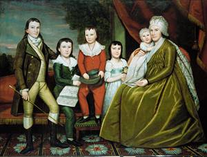 Ralph Earl - Mrs Noah Smith and Her Children 1798