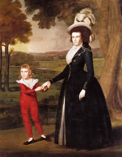 Ralph Earl - Mrs William Moseley and Her Son Charles 1791