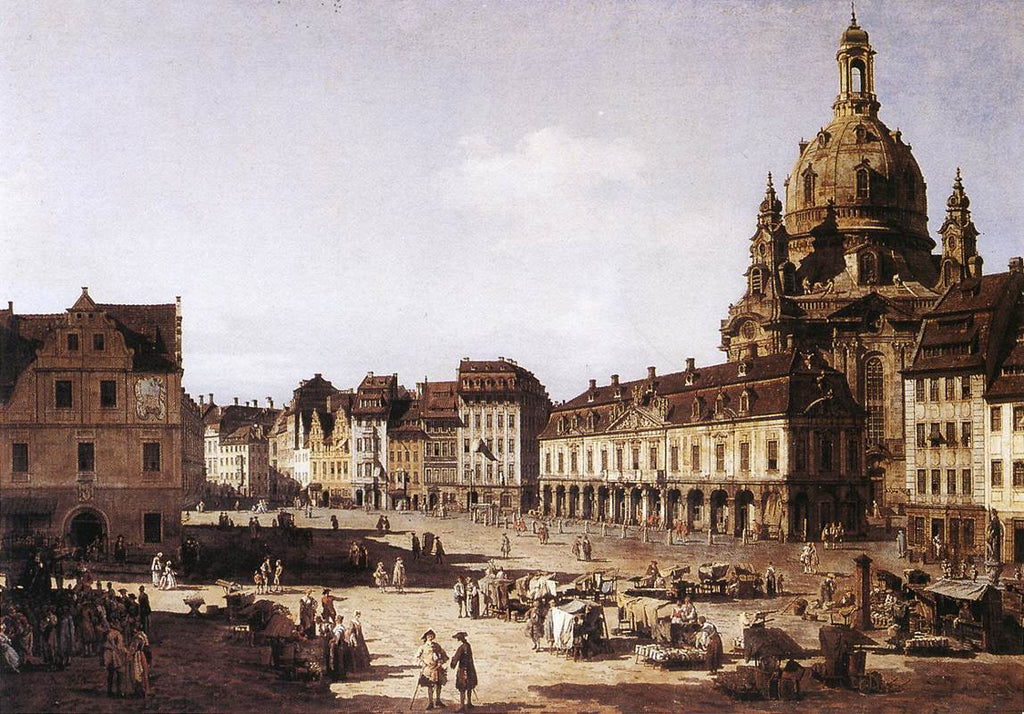 Bernardo Bellotto - New Market Square in Dresden