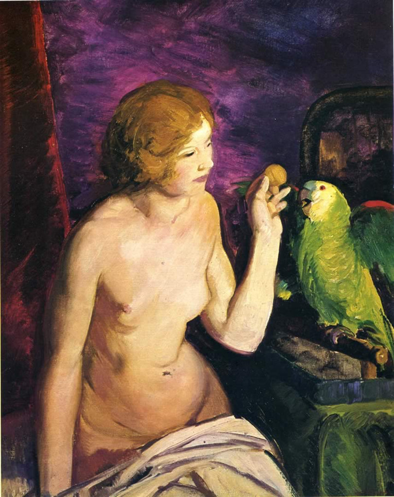 George Bellows - Nude Girl and Parrot