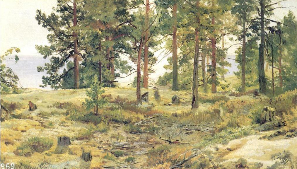 Ivan Shishkin - On Sandy Ground