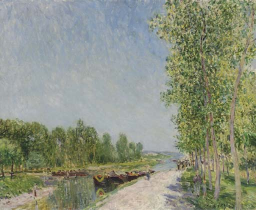 Alfred Sisley - On the Banks of the Loing Canal