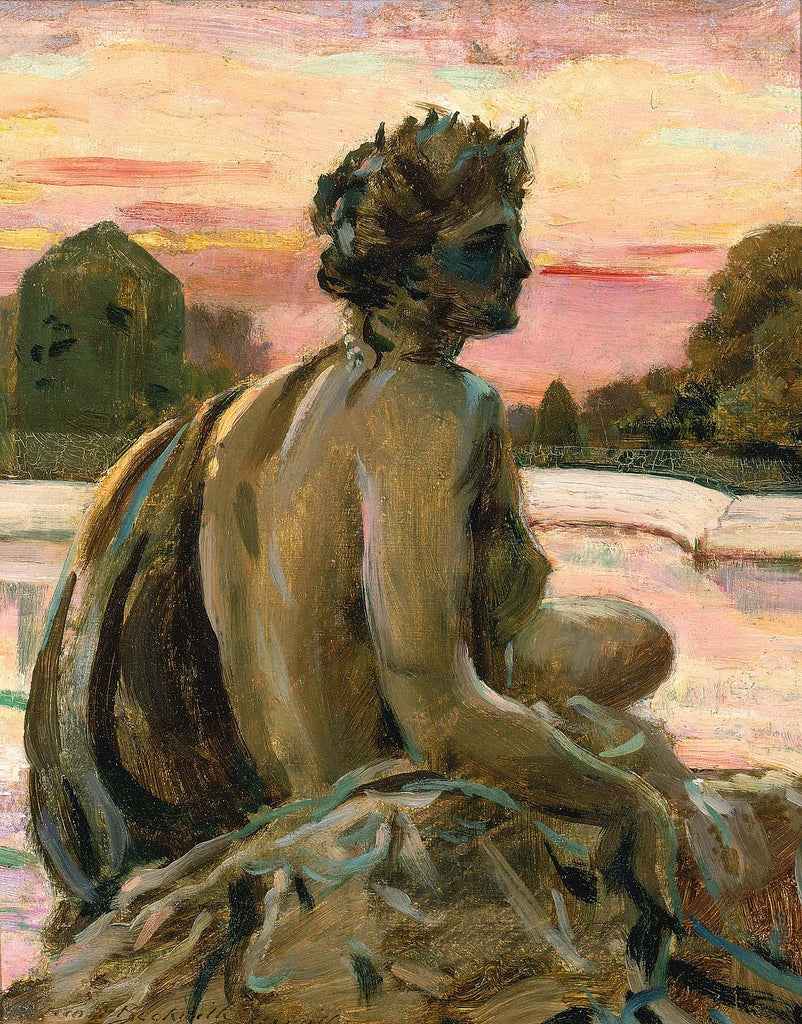 Carroll Beckwith - One of the Figures at the Parterre d'Eau