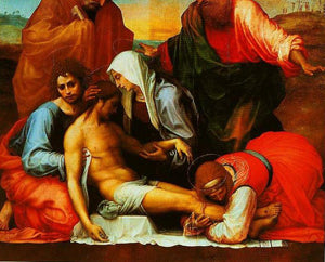 Fra Bartolomeo - Pieta with SS Peter and Paul