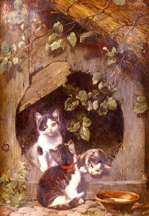 Julius Adam - Playful Kittens