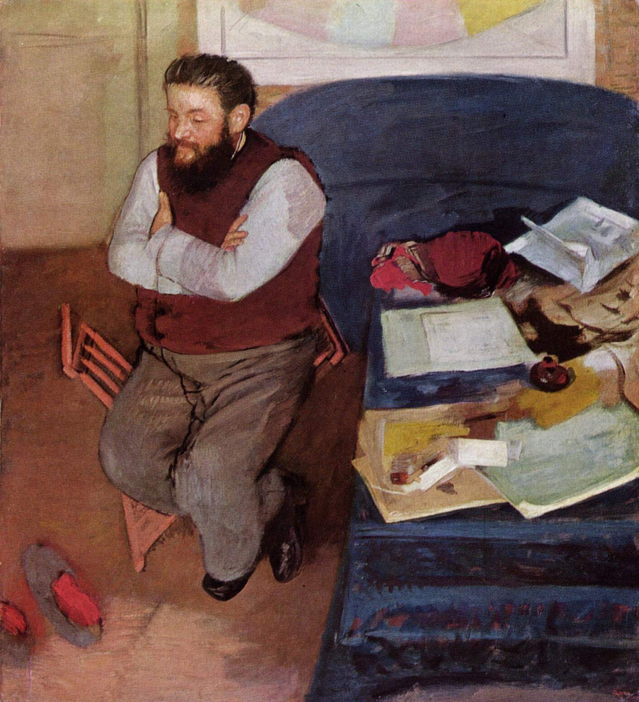 Edgar Degas - Portrait of Diego Martelli