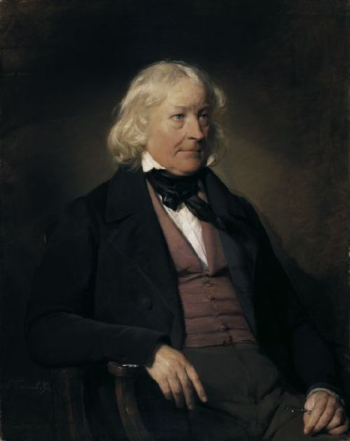 Friedrich von Amerling - Portrait of Sculptor Bertel Thorvaldsen