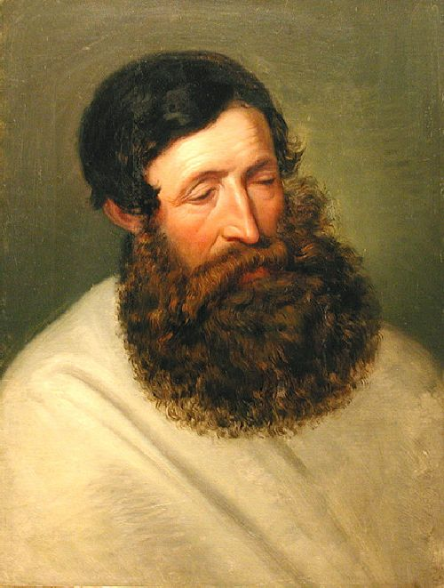 Friedrich von Amerling - Portrait of a Bearded Man b