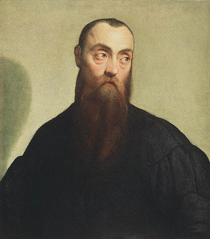 Jacopo Bassano - Portrait of a Bearded Man