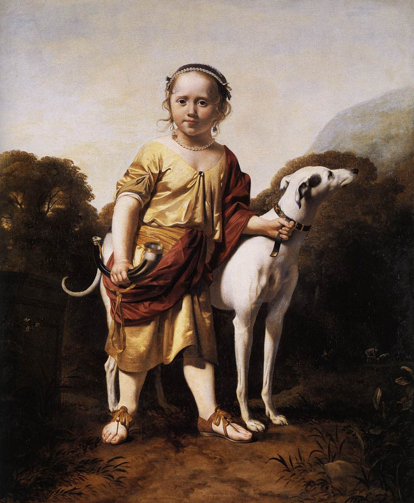 Caesar van Everdingen - Portrait of a Girl as a Huntress