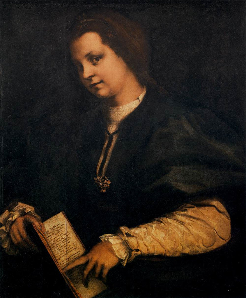 Del Sarto Andrea - Portrait of a Lady with a Book