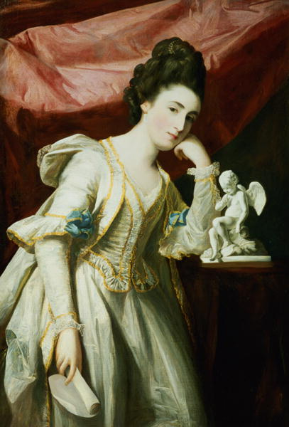 Francis Cotes - Portrait of a Lady with a Statuette of Cupid