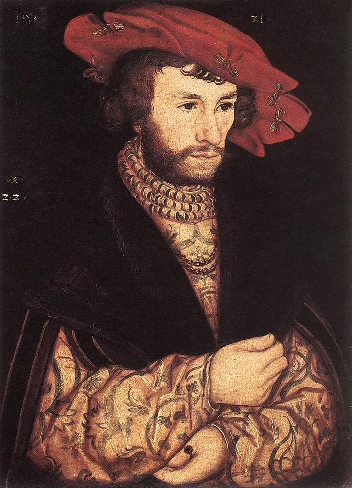 Lucas the Elder Cranach - Portrait of a Young Man