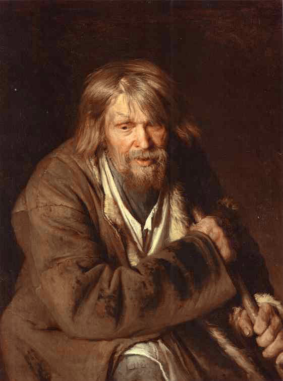 Ivan Nikolaevich Kramskoy - Portrait of an Old Peasant (Study)