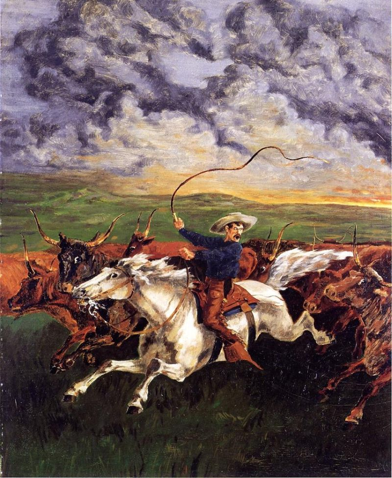 Frederic Remington - Prairie Fire