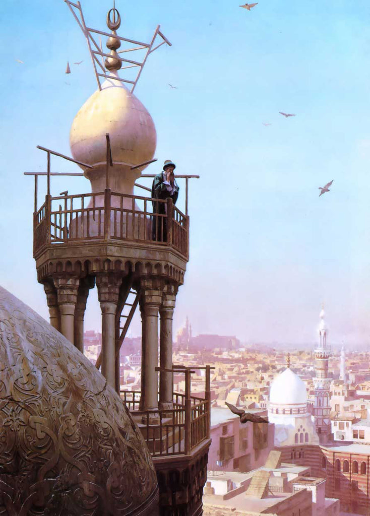 Jean-Leon Gerome - A Muezzin Calling from the Top of a Minaret the Faithful to Prayer
