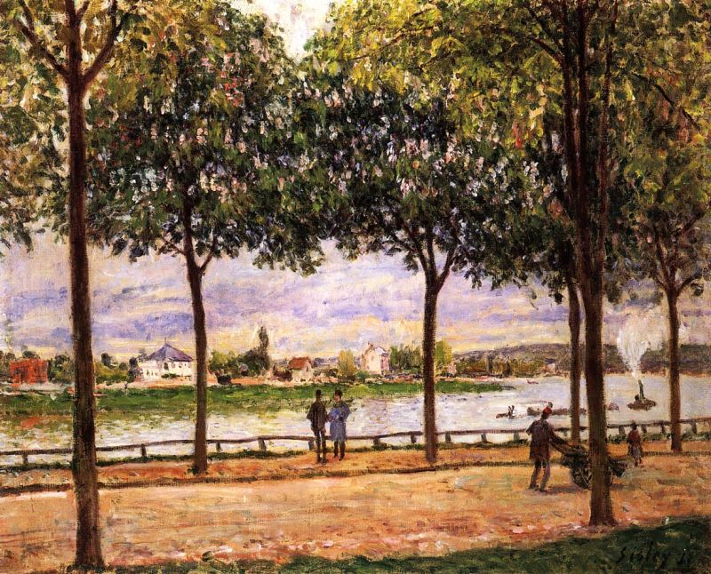Alfred Sisley - Promenade of Chestnut Trees