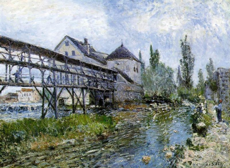 Alfred Sisley - Provencher's Mill at Moret