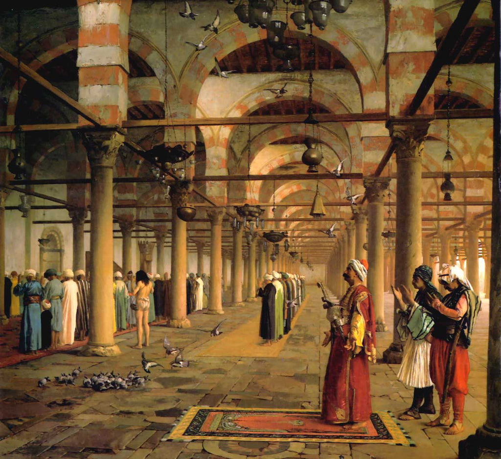 Jean-Leon Gerome - Public Prayer in the Mosque of Amr, Cairo