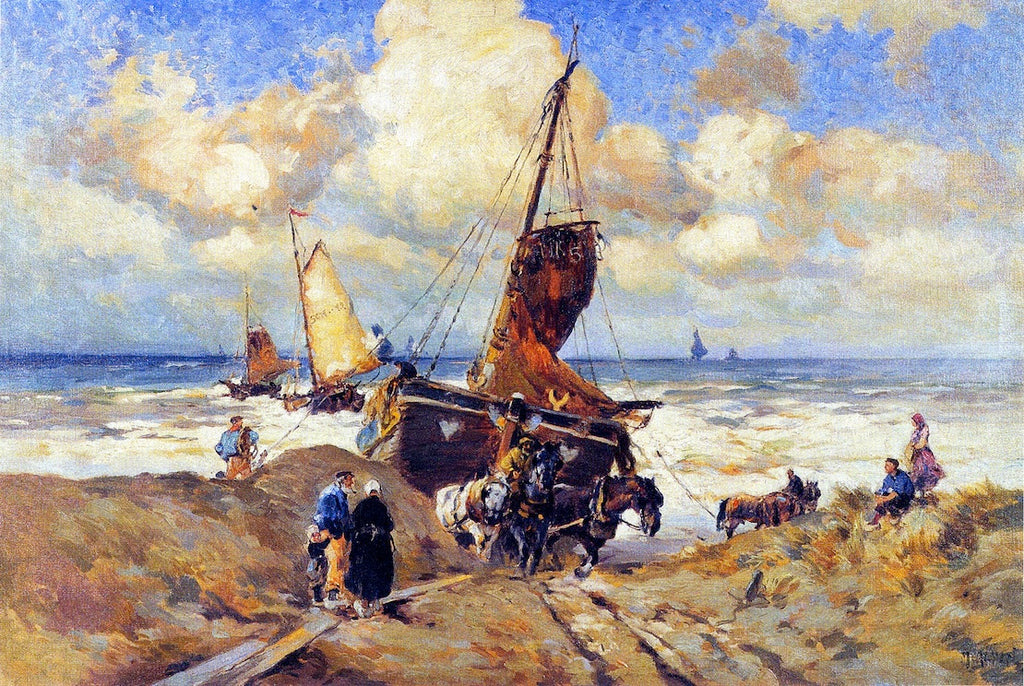 Mathias J Alten - Pulling a Boat to Shore