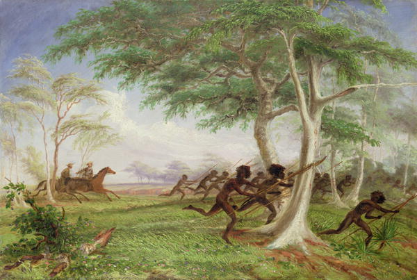 Thomas Baines - Dispersal of hostile tribes near Baines River