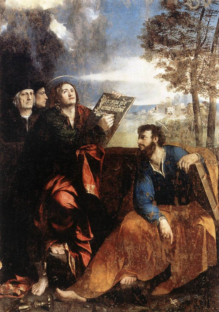 Dosso Dossi - Saints John and Bartholomew with Donors