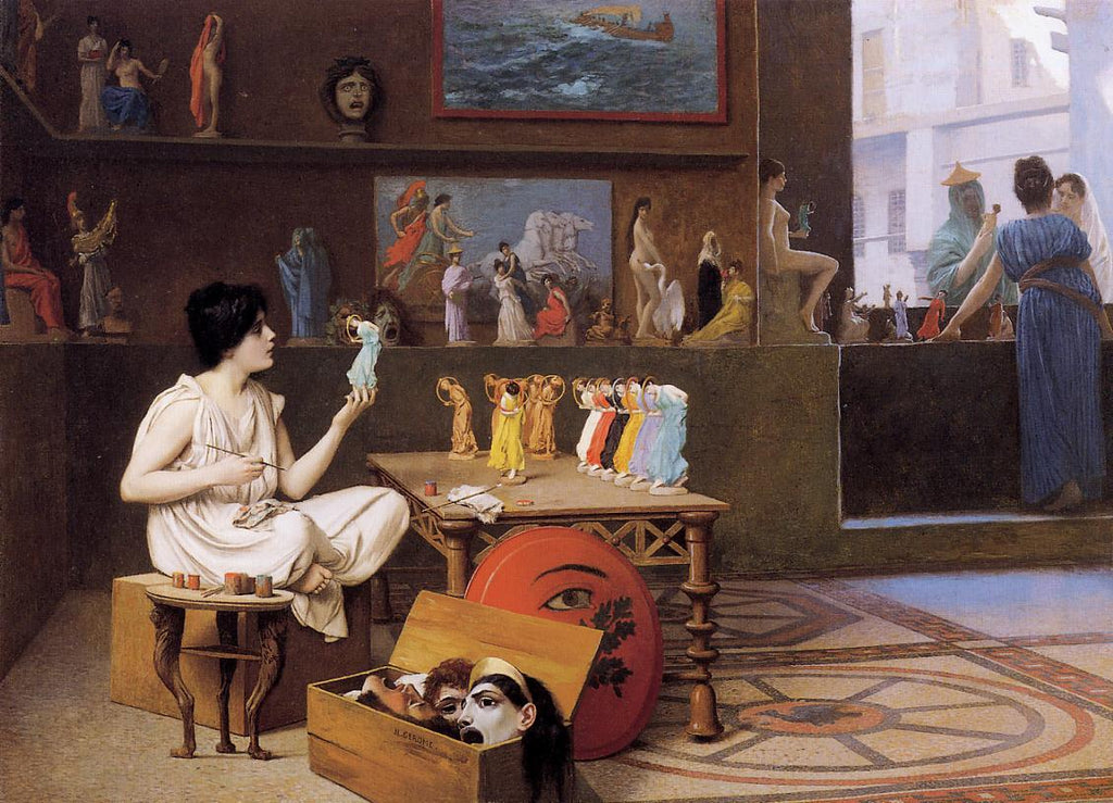 Jean-Leon Gerome - Painting Breathes Life into Sculpture