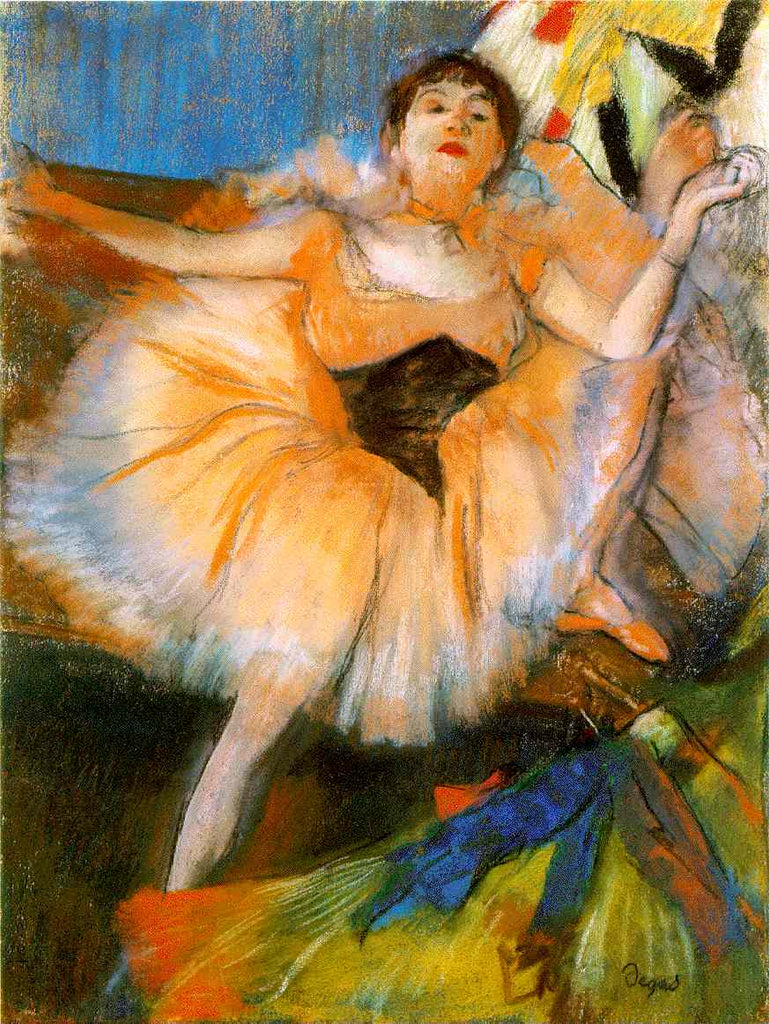 Edgar Degas - Seated Dancer
