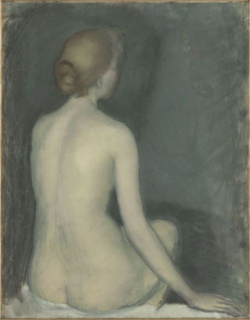 Maurice Denis - Seated nude woman seen from behind