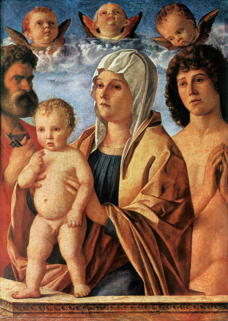 Giovanni Bellini - Louvre - Madonna with Child and Saints Peter and Sebastian