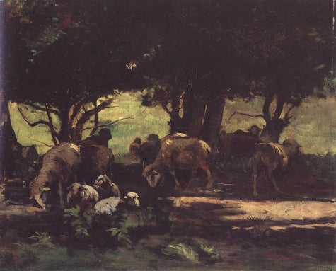 Gyula Agghazy - Sheep Herd