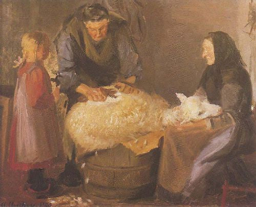 Anna Ancher - Sheep Shearing