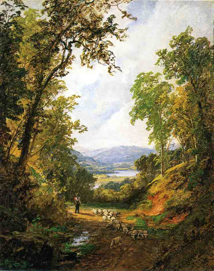 Jasper Francis Cropsey - Shepherd and Flock