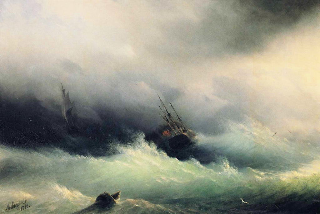 Ivan Aivazovsky - Ships in a Storm