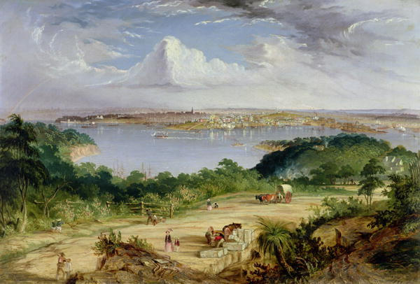 Thomas Baines - Sydney from St Leonards Road North Shore
