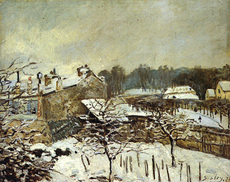 Alfred Sisley - Snow Effect at Louveciennes