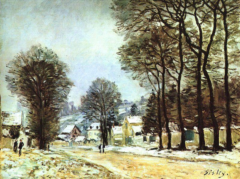 Alfred Sisley - Snow at Louveciennes III