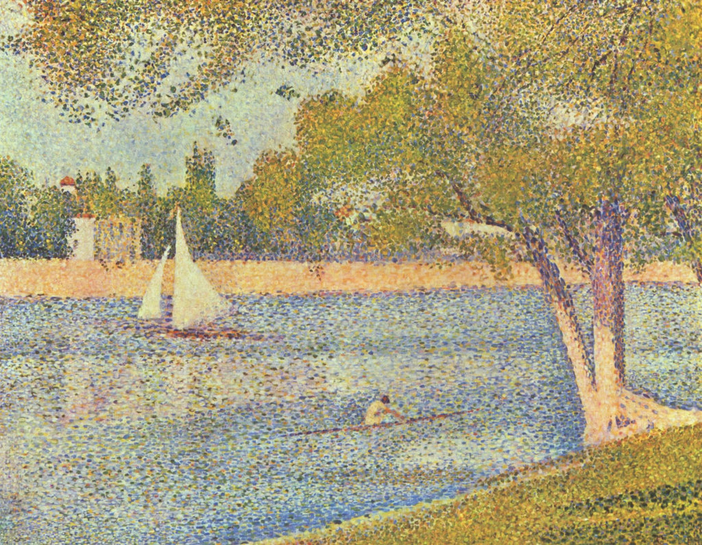 Georges Pierre Seurat - The Seine and La Grande Jatte - Springtime