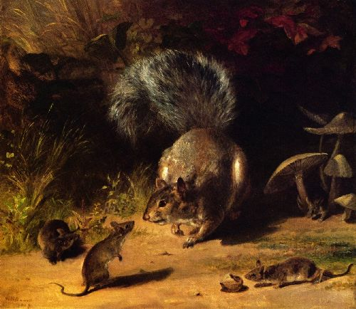 William Holbrook Beard - Squirrel and Mice