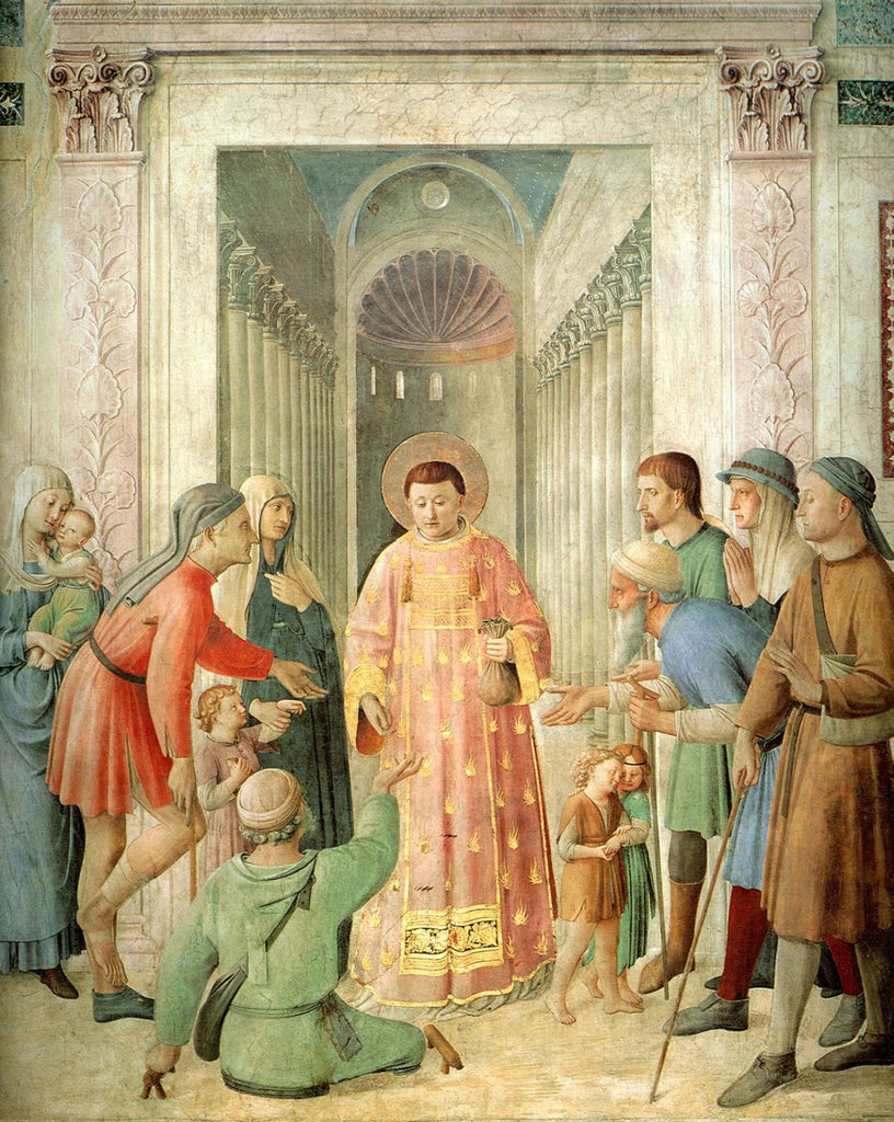 Fra Angelico - St. Lawrence Distributes Alms