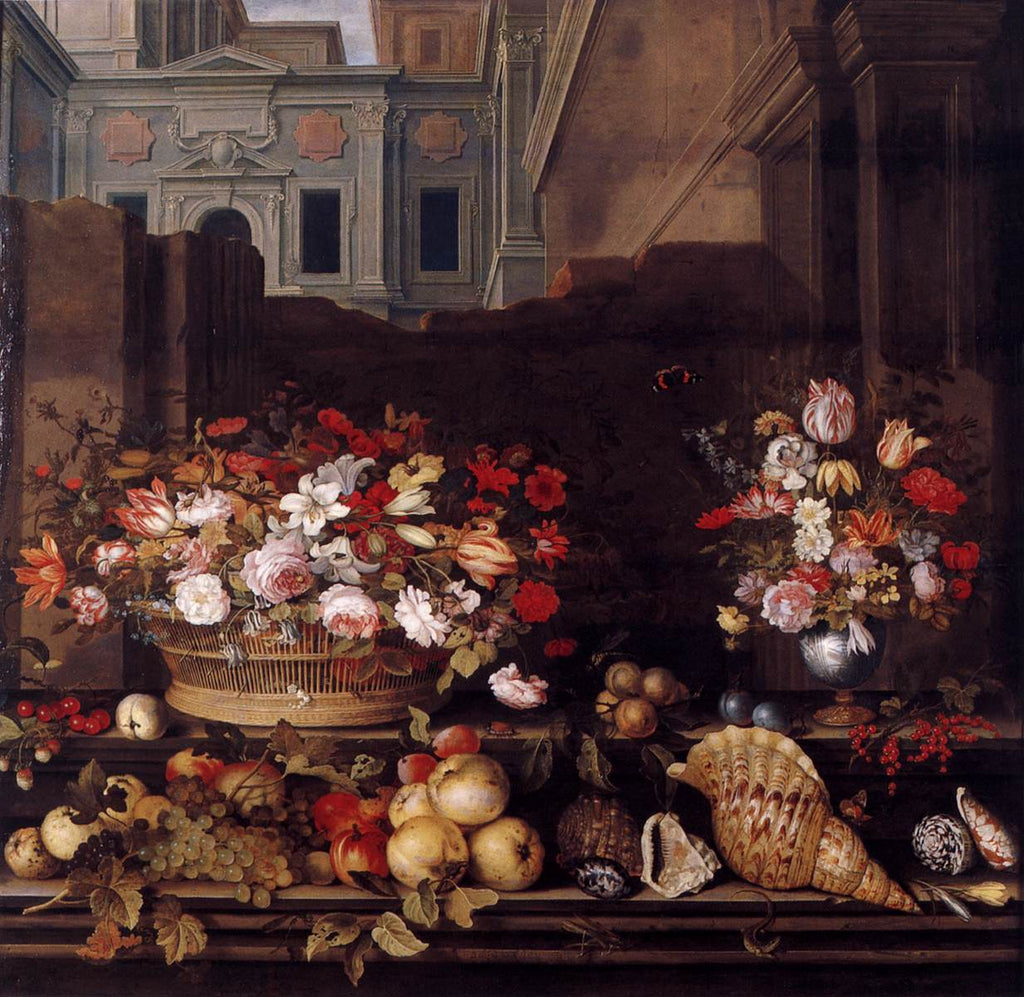 Balthasar van der Ast - Still Life with Flowers, Fruit, and Shells 1640