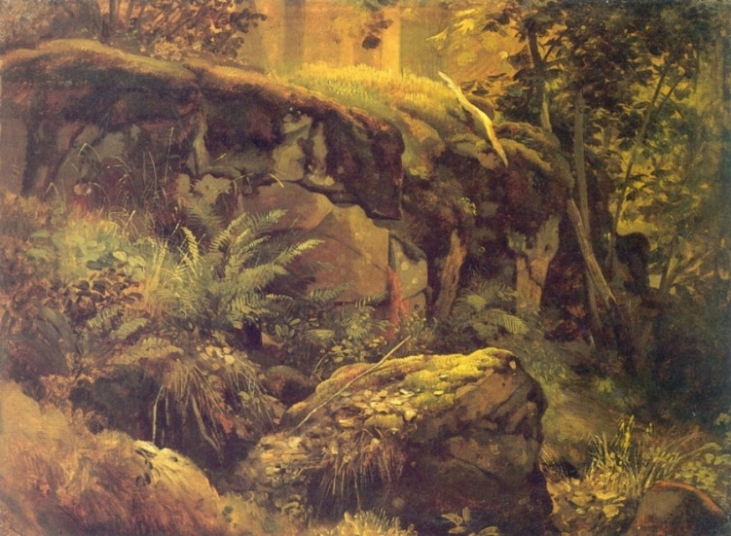 Ivan Shishkin - Stones in a Forest
