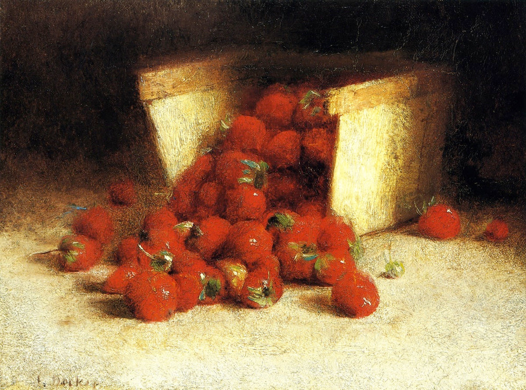 Joseph Decker - Strawberries Spilling Out of a Box