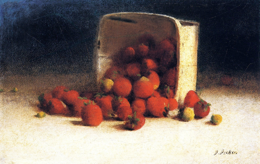 Joseph Decker - Strawberries Spilling Out of an Overturned Box