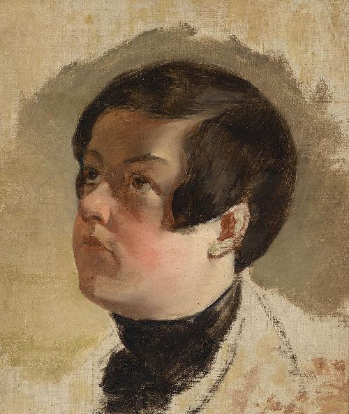 Friedrich von Amerling - Study of a boys head