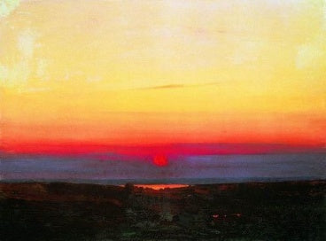 Kuindzhi Arhip - Sunset in the steppes to the sea 1898 1908