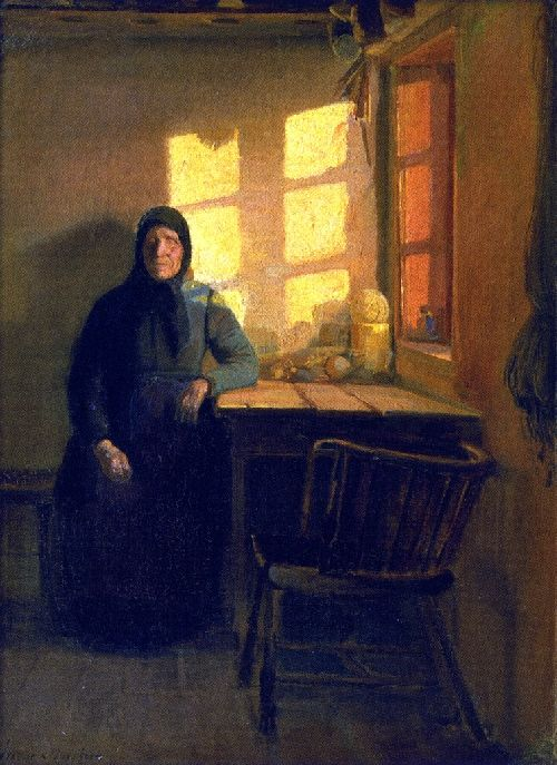 Anna Ancher - Sunshine in the Blind Woman's Room