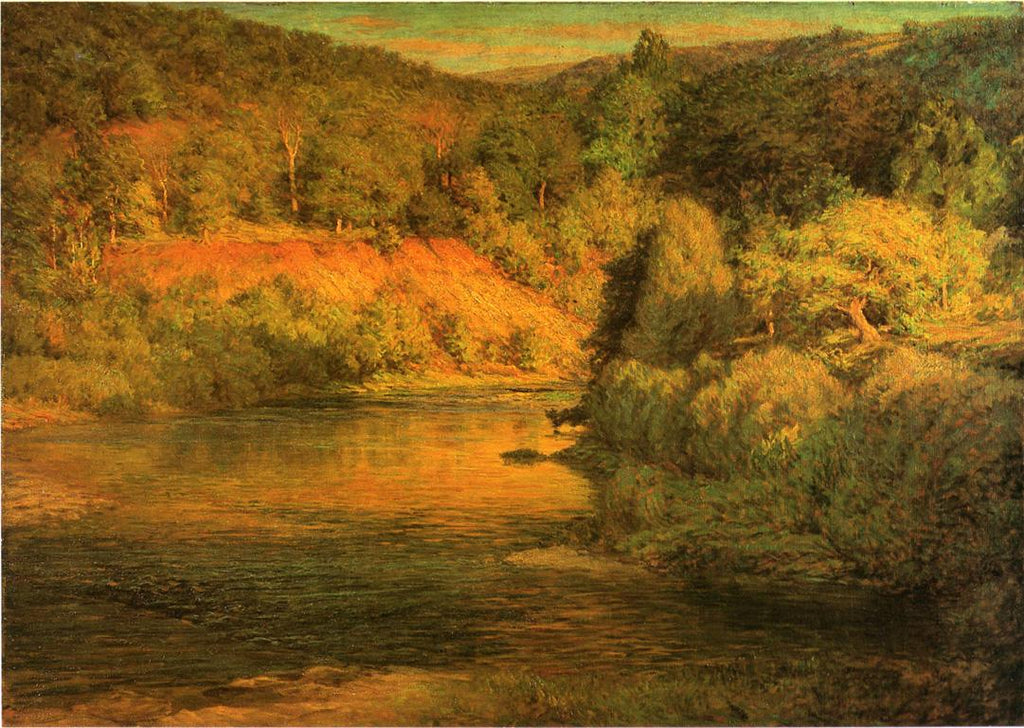 John Ottis Adams - The-Ebb-of-Day-aka-The-Bank-1904